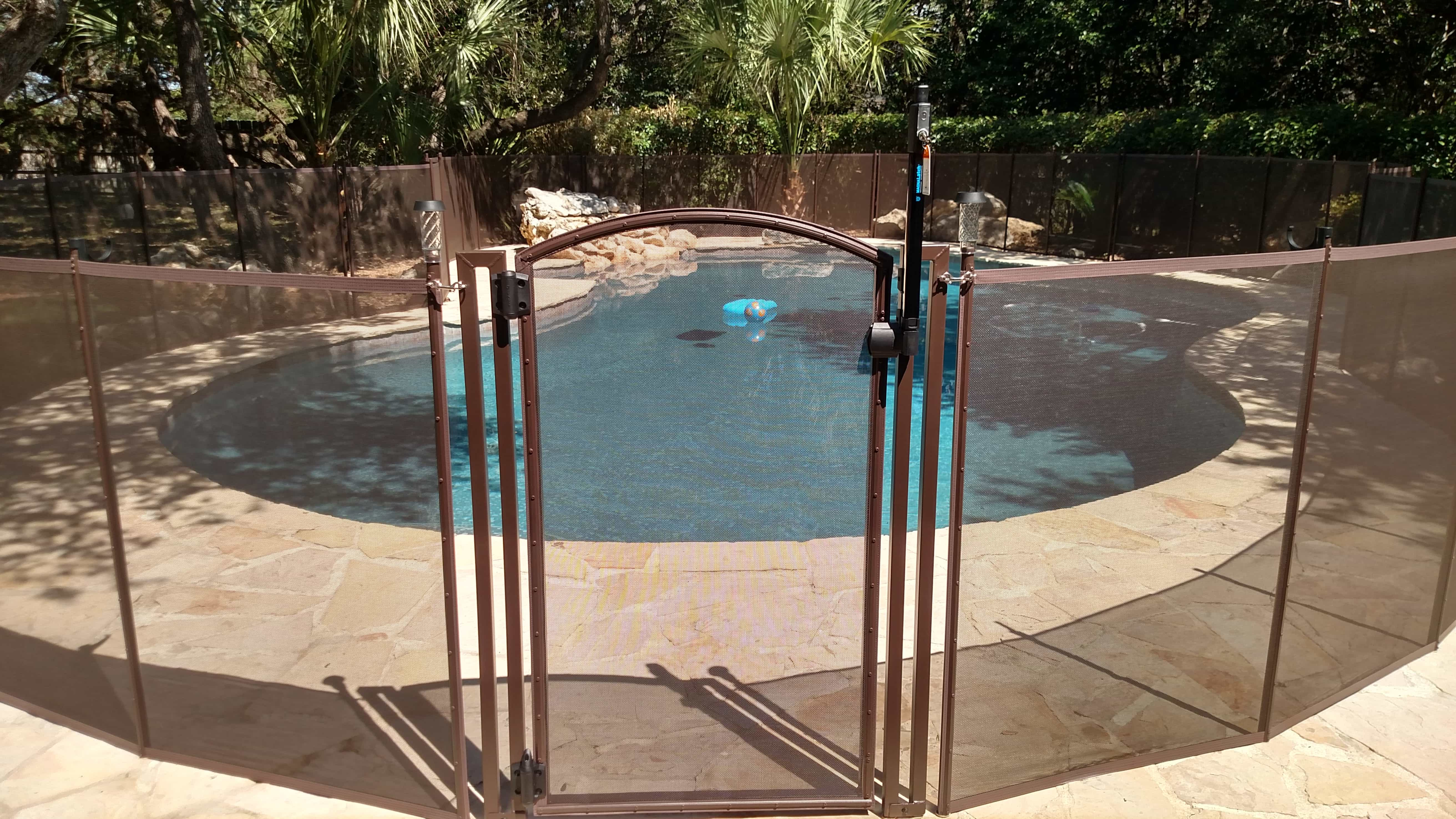 installation info on a life saver pool fence - Pool Fence Installation
